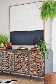makeover furniture. diy painted pattern furniture makeover with stencils decorated custom wood cabinet doors modern