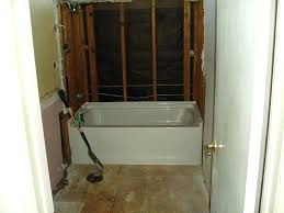 remove and install shower bathtub bathroom design installing replacing tub surround changing how to plumbing