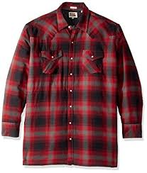 Amazon.com: Ely & Walker Men's Tall Size Long Sleeve Quilted ... & Ely & Walker Men's Size Long Sleeve Quilted Flannel Shirt Jacket, Red,  Large Tall Adamdwight.com