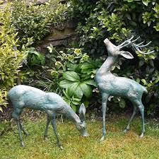 delightful deer antique verdigris
