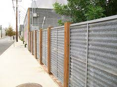 Corrugated Metal Privacy Fence With Timber Top And Bottom I Like