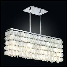 ceiling lights chandelier prisms coconut shell large light fixtures zigzag capiz pendant restoration hardware shade vinta