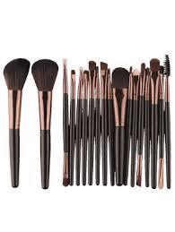 18pcs multifunctional makeup brushes set black brown