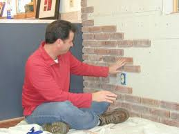 diy faux and real exposed brick walls