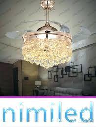 chandelier winch remote control chandelier crystal invisible ceiling fan light lights living room lighting led chandelier
