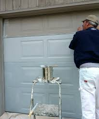 painting a garage door with a roller how to paint metal garage door with roller home
