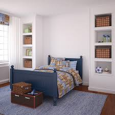 To Kick Off The List, We Have A Very Simple Boys Room With A Beautiful  Coastal Style Bed Frame In A Navy Blue Color. This Bed Is Resting On Top Of  A Very ...