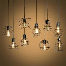retro lamp shades industry metal pendant lamps holder vintage style iron hanging light shade bulb cream