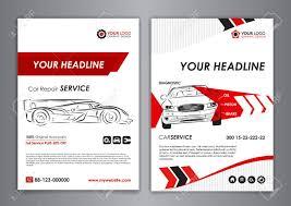 Auto Repair Flyer Auto Repair Brochure Templates Mockup Flyer Abstract Arrow