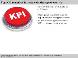 medical sales rep medical sales representative kpis