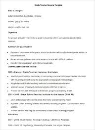 51 Teacher Resume Templates Free Sample Example Format Download