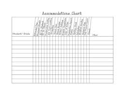 Accommodations Chart Worksheets Teaching Resources Tpt