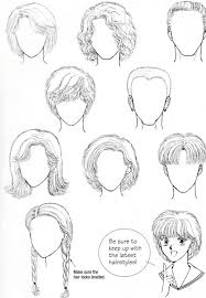 Another Set Of Simple Yet Easy To Draw Hair Reference In 2019