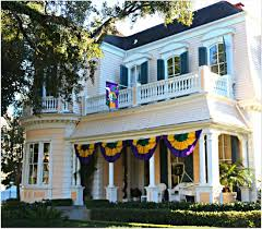 new orleans homes and neighborhoods mardi gras flags on st