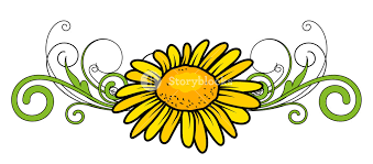 Yellow Flower Divider Vector Royalty-Free Stock Image - Storyblocks