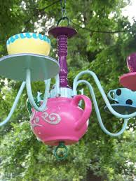 alice in wonderland tea pot chandelier
