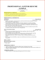Janitor Resume Sample Janitor Resume Sample Cleaning Profile For Professional Pro Sevte 56