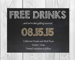 Wedding Party Birthday Bridal Shower Funny Free Drinks Save The
