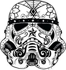 Printable Sugar Skull Template Mask 3d Skulls Coloring Pages ...