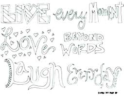 Coloring Love Quote Coloring Pages Quotes Colouring I You