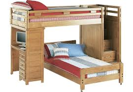 Bunk Bed With Trundle, White, Twin transitional-bunk-beds