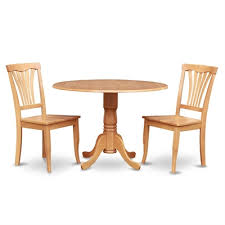 east west furniture dublin round drop leaf table dining set with wood seat chairs
