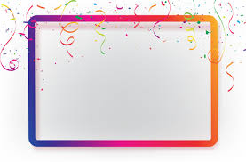 Celebration Background Template With Confetti Ribbons