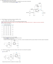 amplifier um size the op amp in circuit is ideal find range chegg com need help