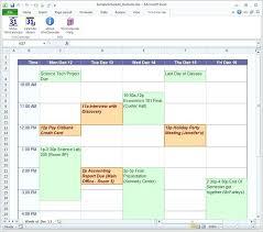 Course Schedule Maker Free Virtual Calendar Template Templates For Word 2007 Online Class