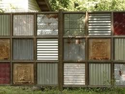 corrugated metal diy fence