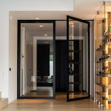 Double Swinging Doors Custom Made Pivoting Doors With 360a0 Central Or Offset Axis