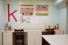 decorating furniture with paper. Mind Blowing Pegboard Decoration For Craft Room Design Ideas : Gorgeous  Craftroom With Pink Decorating Furniture With Paper