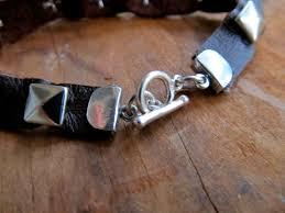 diy leather studded bracelet
