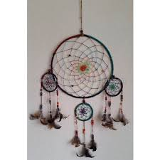 Dream Catchers Wholesale Native american style Dream Catcher made with hemp and feather in 54