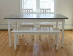 Concrete Top Dining Tables Diy Concrete Dining Table Top And Dining Set Makeover The Crazy