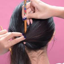 Chopstick Hairstyle 5 easy hairstyles for when youre running late beauaty hacks 7068 by wearticles.com