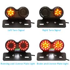 Us 11 82 21 Off Motorcycle Led Turn Signal Light Moto Taillight License Plate Lamp Indicator Warning Signal Light Brake Light On Aliexpress