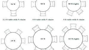 4 foot round tables 6 foot round table seats how many
