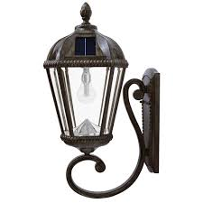 royal bulb series 1 light weathered bronze outdoor integrated led solar