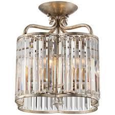 "Soft Silver 4-Light 13"" Wide <b>Crystal Ceiling Light</b> | Lamps <b>Plus</b>"