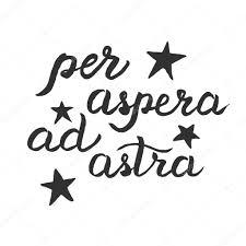 за Aspera Ad Astra плакат векторное изображение Vicgripas 93337224