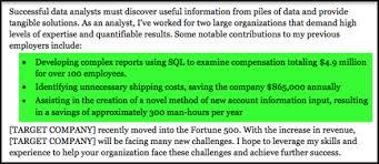 Data Analyst Cover Letter Sample Resume Companion