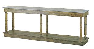 aged console table with faux slate top