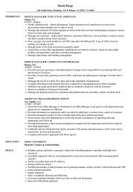 Office Manager Assistant Resume Samples Velvet Jobs