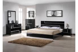 acrylic bedroom furniture. Black High Gloss Acrylic Low Profile Bed On Unfinished Wooden Floor Combined With Dresser And Mirror Bedroom Furniture R