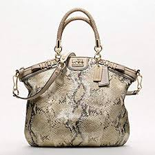 Coach Madison Embossed Metallic Python Lindsey 18941