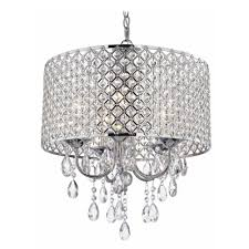 crystal chrome chandelier pendant light with crystal beaded drum throughout chrome crystal chandelier 8