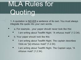 Mla Citation Quotes Mla Quoting And In Text Citations Ppt Video Online Download
