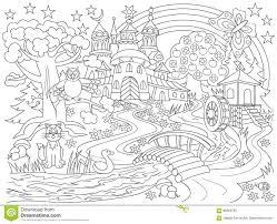 Coloriage Magique Chateau Royaume Facile Dessinll L