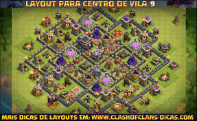 Layouts De Cv9 Clash Of Clans Clash Of Clans Dicas